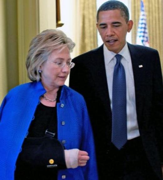 expresidente Hussein Obama y Hillary Clinton, Ex Primera Dama, Senador Estado de Nueva York, Secretaria de Estado y dos veces derrotada candidata presidencial.