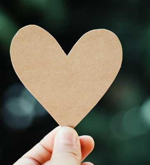 un corazon como muestra de amor