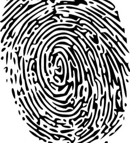 Huella digital. Investigación policial. Crimen
