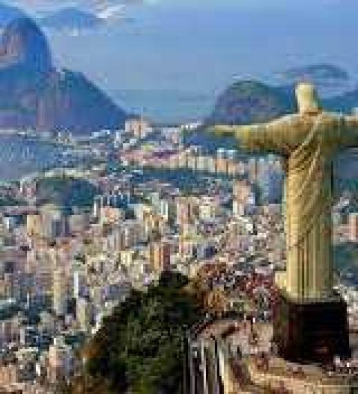 """Vista desde El Cristo redentor, Río de Janeiro. Escenario de """"Homoánimas. Río de almas"""""""