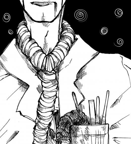 """Ilustración de carácter simbolista realizada con técnica digital (Paint Tool Sai) por Alba Navarro Francés (kalisdice), e inspirada en uno de los poemas del libro Hoy matamos a Poesía de Hedoné, perteneciente a la categoría """"Reflexiones""""."""