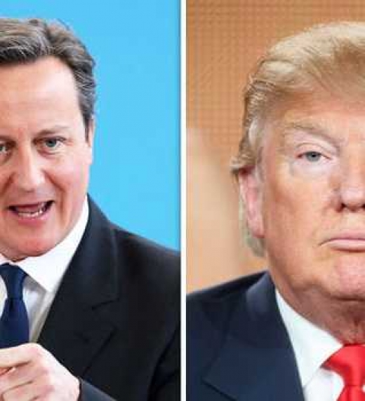 Debate político entre David Cameron y Donald Trump