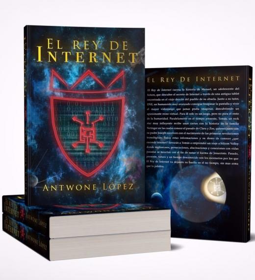 Portada de la 1ª edicion conmemorativa del lanzamiento en tapa blanda de la novela El Rey de Internet