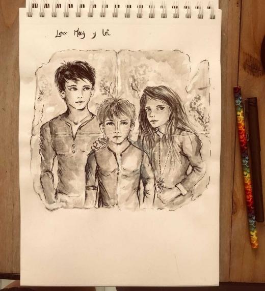 Ilustración incluida en el libro de sus protagonistas.