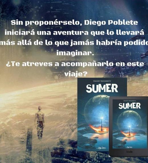 Afiche promocional de la novela Sumer.