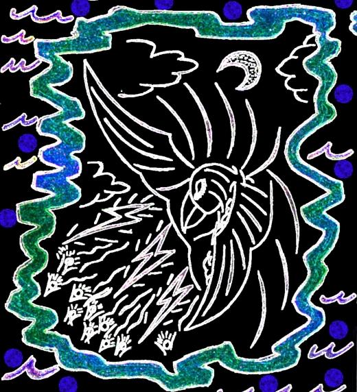 Dibujo tribal de Dios.