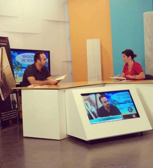 Entrevista a Javier Samper en Canal Intercomunal de Villena. Lunes 27 de agosto de 2018.