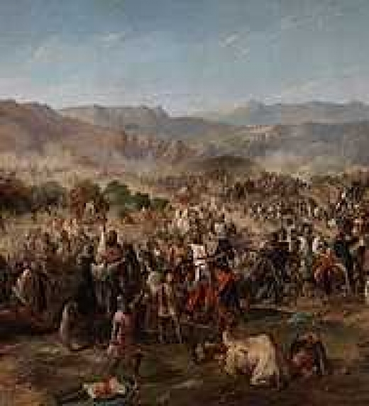 La Batalla de Navas de Tolosa. Pintura al óleo de Francisco Van Halen (España, 1814)