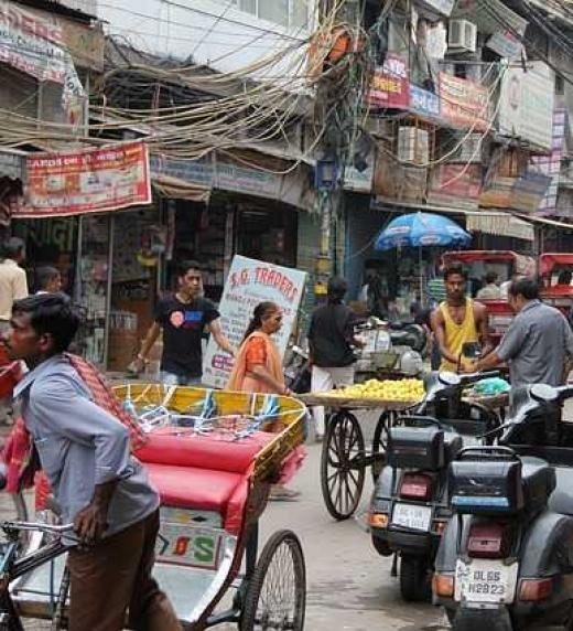 Las famosas y concurridas calles Nueva Delhi