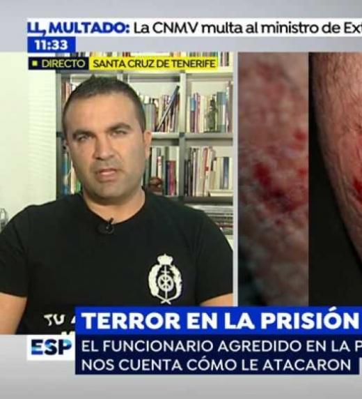 Terror en la prisión En la prisión de Santa cruz de tenerife fue atacado un funcionario de prisiones.