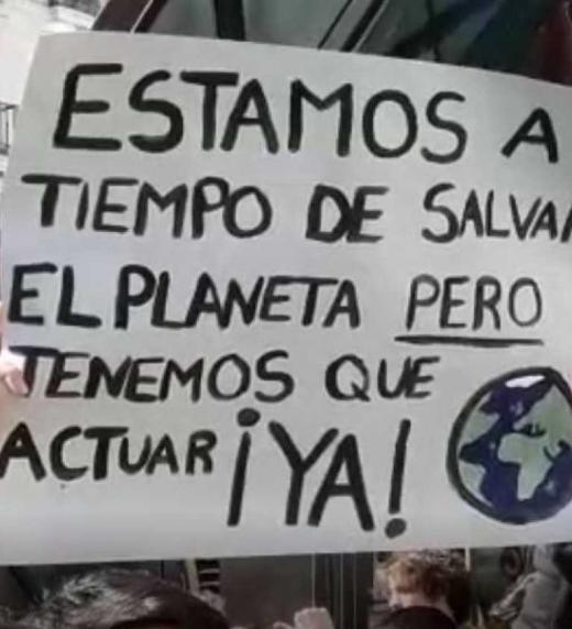 Manifestación contra el Cambio Climático y salvar el Planeta.