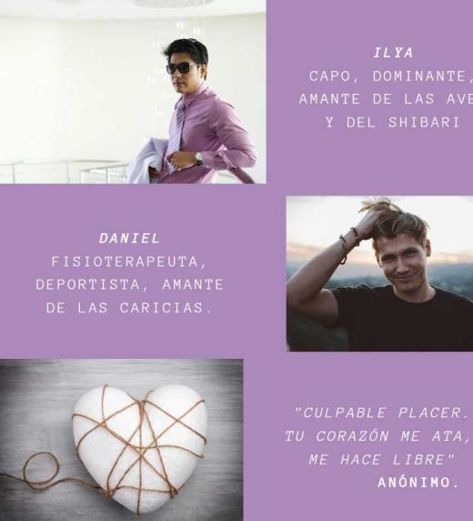 Banner de promoción de la novela: conoce a Ilya, Daniel y su romance BDSM.