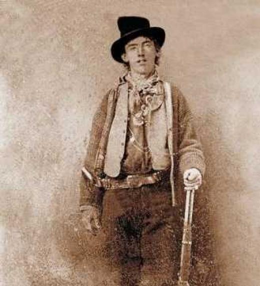 Fotografía tomada al forájido William Henry McCarthy, más conocido como Billy The Kid