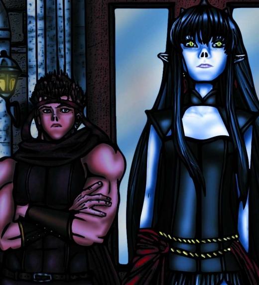 Presentación de Leónidas y Misha en la obra.