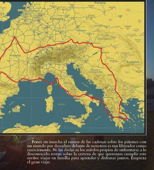Mapa de la Vuelta a Europa