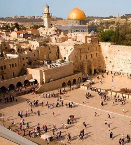 Epicentro de la religión judía, católica y musulmana