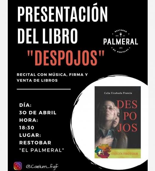 Invitación a la presentación de Despojos, abril 2019.
