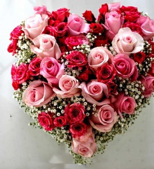 Portada del libro AMOR DE JUVENTUD Un corazón con flores rosas y flores rojas