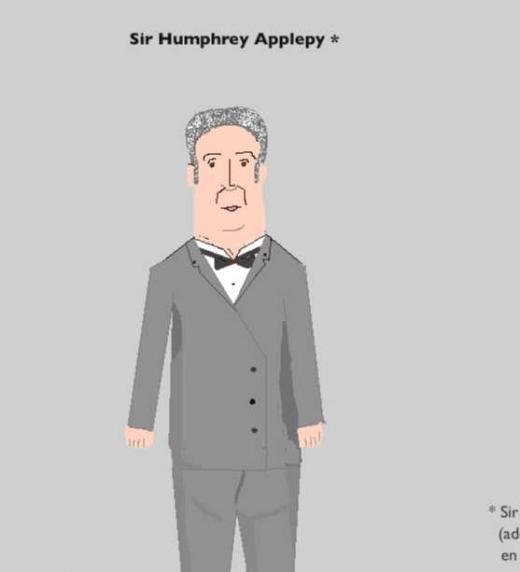 Sir Humphrey es el único personaje de la novela (además del cabo Heredia, naturalmente) que aparece en las tres aventuras del cabo Heredia: Un cabo suelto, La llamaremos Lina y Operación pitbull