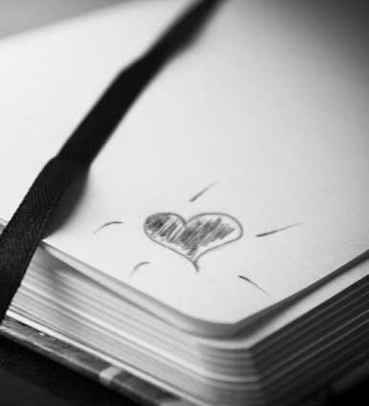 Un cuaderno todavía sin heridas,       intentando ser curadas, aguardando cobijo