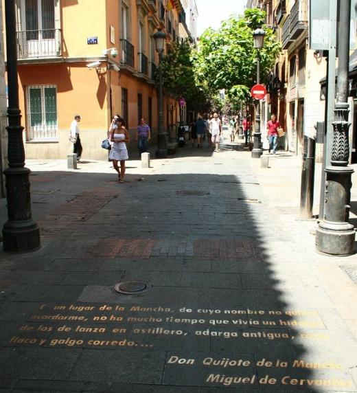 Barrio bohemio de Madrid, escenario de algunos relatos de Madrid, telón de fondo.