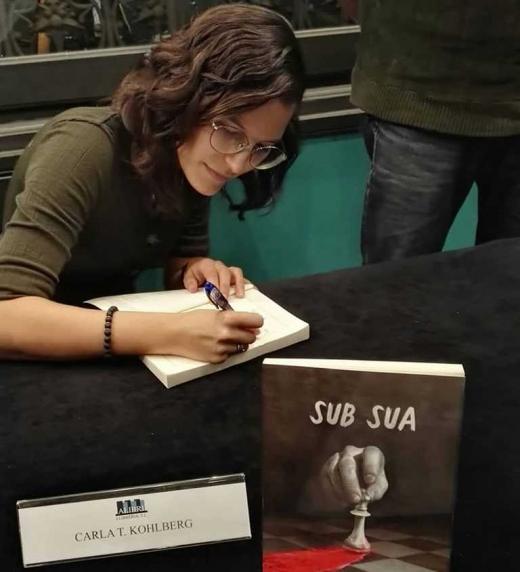 Presentación del libro Sub Sua de Carla T. Kohlberg en la librería Alibri en Barcelona. 14 de diciembre 2019