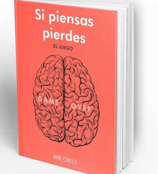 """Libro en 3d """"Si piensas pierdes. El juego"""" de Marc Cubells"""