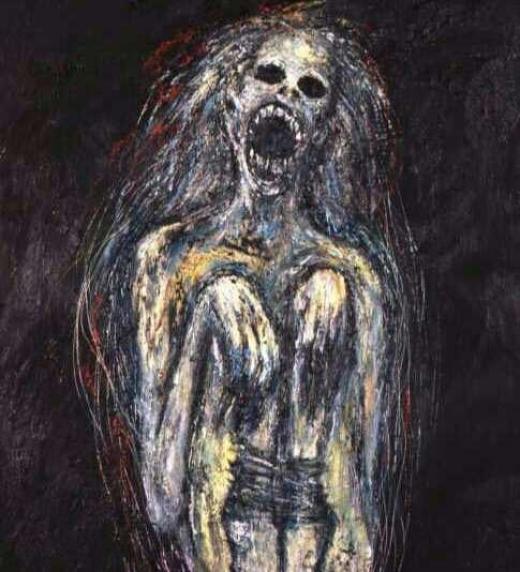 ...una serie de pinturas perturbadoras son el miedo que asecha los corazones de una ciudad