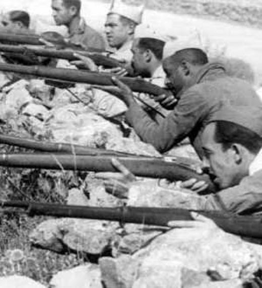 Muchos jóvenes debieron abandonar su vida cotidiana para aferrarse a las armas