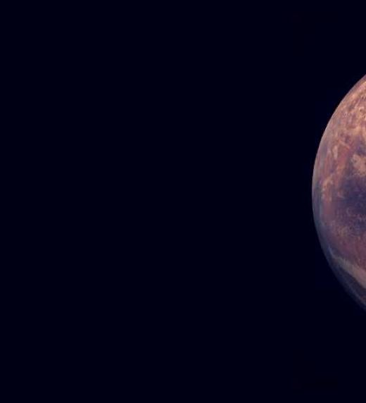 Aquí observamos que el planeta rojo está cada vez más unido a la tierra.