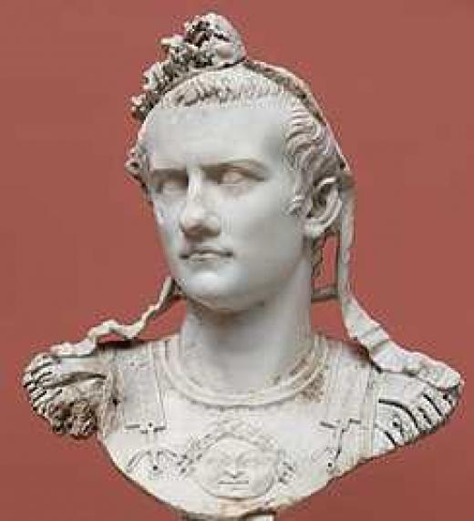 Era hijo de Germánico, quien a su vez era hijo adoptivo del emperador Tiberio. Su abuelo Nerón Claudio Druso, muerto prematuramente, era el hermano menor del emperador Tiberio. Germánico es considerado como uno de los más grandes generales de la hist