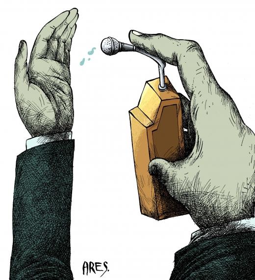 La hipocresía política, uno de los temas del libro