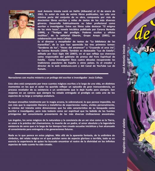 """Cubierta del libro """"Suspiros de color violeta"""""""