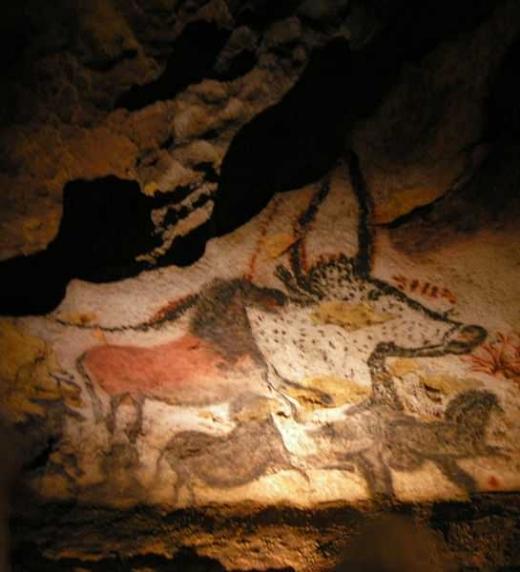 Pinturas rupestres en las cuevas de Lascaux (Francia)