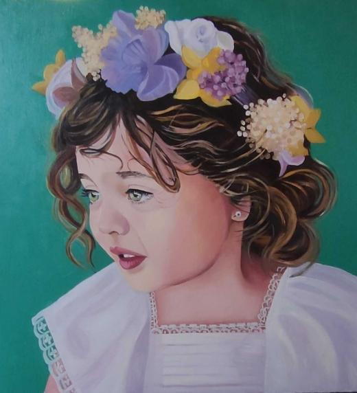 Retrato de Lucía niña, realizado por su abuela María después de sufrir una depresión de la que consiguió salir gracias al nacimiento de su nieta.