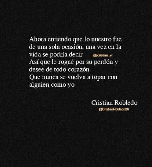 Este es un fragmento de uno de los textos del autor Cristian Robledo, en uno de sus momentos de inspiración.