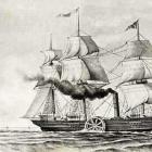 Barco de vapor del siglo XIX.