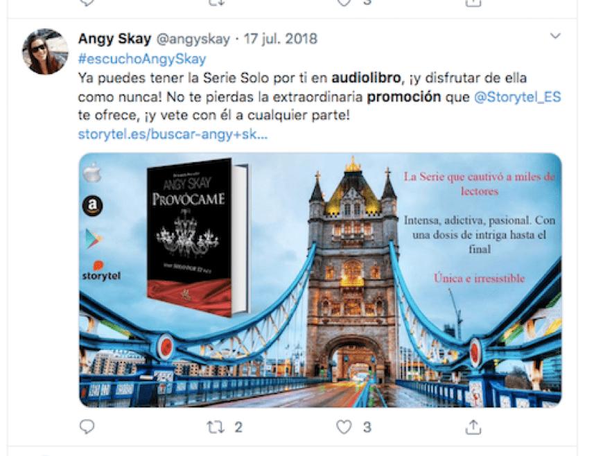 promoción en plataforma Storytel de Angy Skay