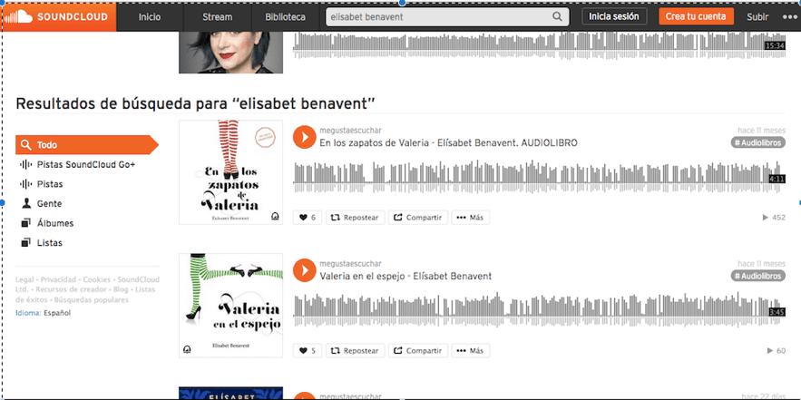 Audiolibros a Soundcloud